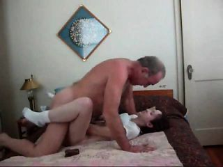 Older man fucking a slit that is newer