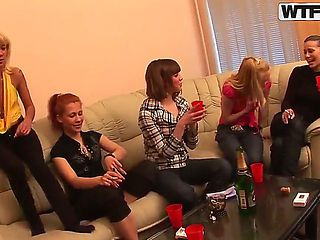 A lot of students from the medical college decided to have a party. Alma, Colette, Daisy, Gia, Je...