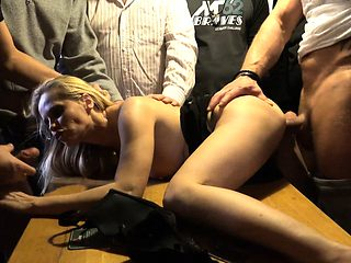 Anal Squirt and DP GangBang Fucking