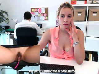 Filmed My Secretary With A Hidden Cam...