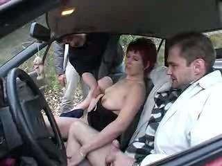 Swinger German Couple Carsex  Outdoor - Part.2