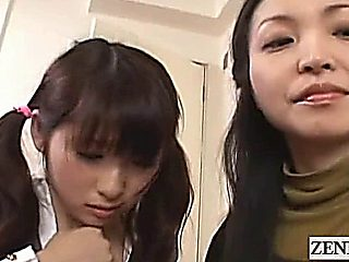 Subtitle Cfnm Japanese Schoolgirl And Milf Catch Peeper