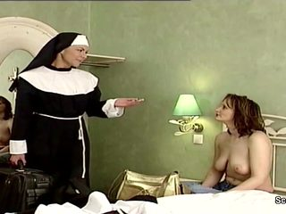 German Nun Seduce to Fuck by Prister in Classic Porn Movie
