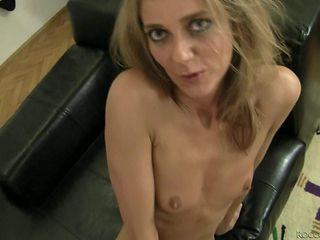 Skinny slut Natasha D with tiny