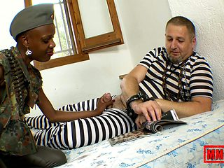 Bianka Blacka & Terry in Sex With A Sexy African Soldier - MMM100