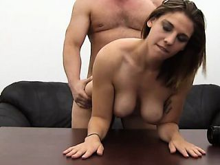 Busty Girl Next Door Fucks and Swallows Jizz Load