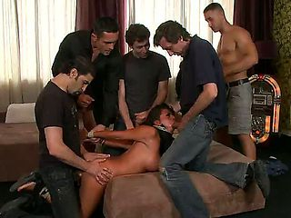 Horny and aroused dudes James Deen,Renato and Mugur,Steve Holmes and Zenza Raggi barge into Yohas...