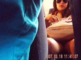 talk woman gets bus panty slip