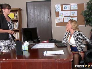 seductive milf gets fucked at work