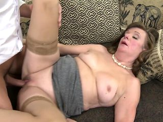 Hungry granny gets taboo sex with young boy