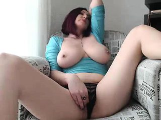 Czech redhead milf and her amazing boobs