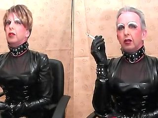 Hottest homemade shemale movie with Fetish, Latex scenes