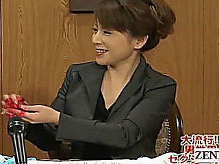 Subtitle Cfnm Japanese Milf News Handjob