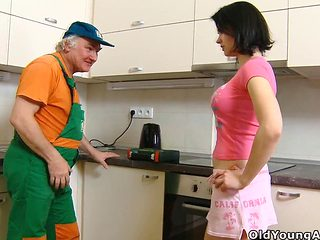 Old Man Young Girl - Anal
