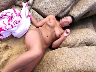 Nude on public beach and sex