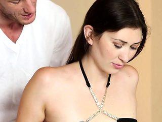 Massage loving babe banged doggystyle