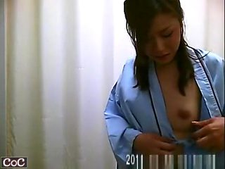 Small tits asian women spied