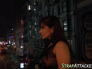 Kinky dominas strapon sex