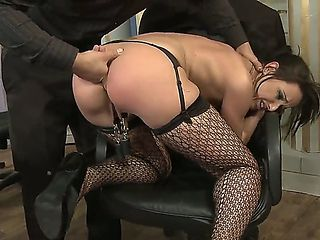 Andy Brown was a naughty secretary, so she needs to be punished hard. Her boss knows exactly how ...