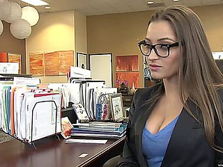 Sexy Blonde In The Office