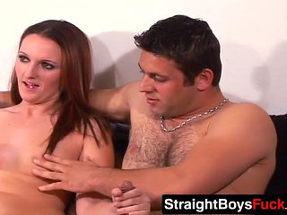 Muscular twins have bisexual threesome