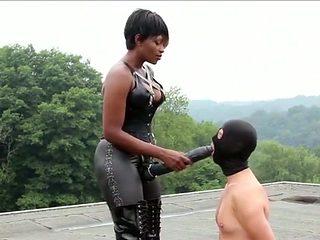 Exotic amateur Femdom, Strapon sex scene