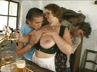 Busty German Barmaid Threesome