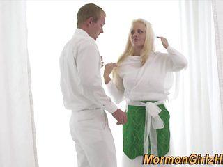Religious mormon spunk flow