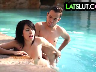 HOT LATINA JANETH RUBIO GETS FUCKED BY THE POOL