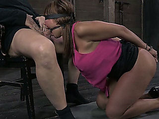Blindfolded and experienced mother i'd like to fuck Ava Devine is tied powerless