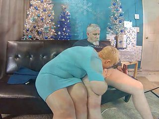 Busty Blonde Granny Riding Cock