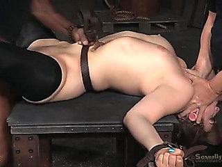 Coarse thraldom sex overwhelms a sexually excited brunette hair