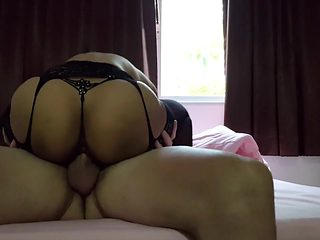 Thai slut in stockings fucked and creampied
