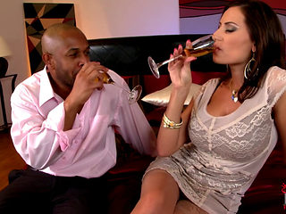 Sensual Jane Bouncing Up And Down A Black Cock