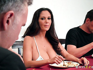 Brunette sweetie Ava Addams spends her sexual energy with Keiran Lees stiff meat stick in her mo...