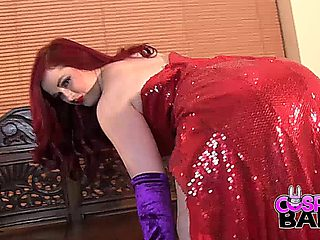 Cosplay Babes Busty Jessica Rabbit Face Fucked