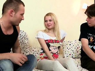 Stud assists with hymen physical and poking of virgin sweeti