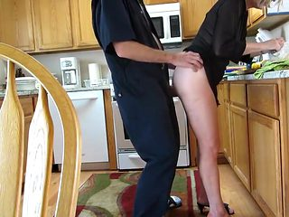 Fun loving husband pokes wife with a dick