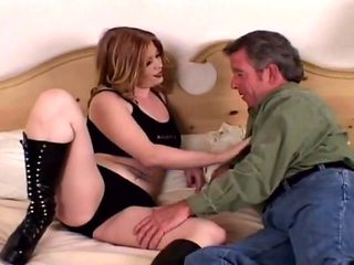 Sexy daddy fucked with strap on