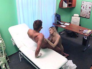 Passionate cock sucker bangs doctor