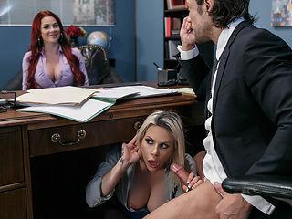 Rachel RoXXX & Skyla Novea & Jean Val Jean in Hungry For A Job - Brazzers