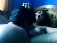 Indian chick fucks her young lover when her husband is out.