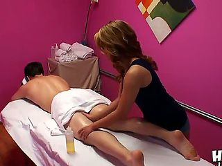 Welcome to the best Asian massage parlor in which Mandi is going to show how good she is at massa...