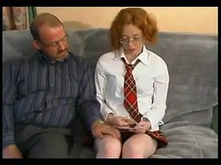 Daddy Fucks His Cute Ginger Girl !