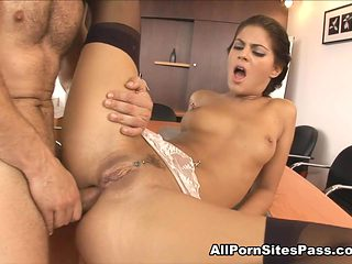 Defrancesca Gallardo in Anal Fucking In The Office Video - AllPornsitesPass