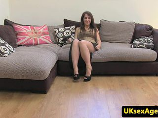 Bigtitted brit pounded on casting couch