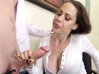 Huge Titty Cougar Boss McKenzie Lee Cums Hard