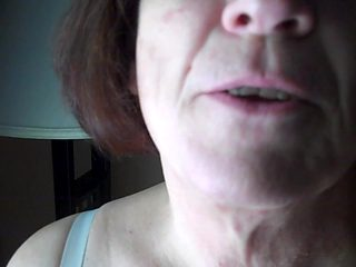 Fucking Granny Comsluts mouth in front of a window