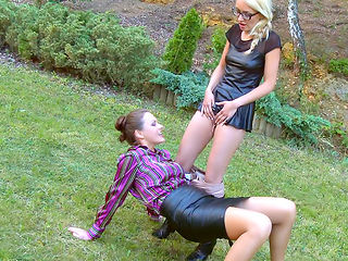 HORNY LESBIANS PISSING ON EACH OTHER
