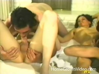 Bisexual foursome with group of kinky swingers